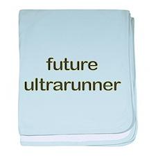Future Ultrarun Green baby blanket