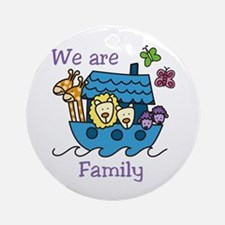 We Are Family Ornament (Round)