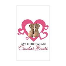My Hero Wears Combat Boots Decal