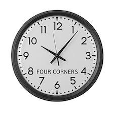 Four Corners Newsroom Large Wall Clock