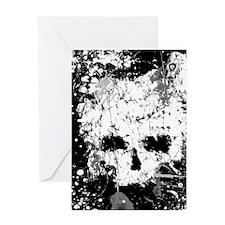 Splatter Skull Greeting Cards