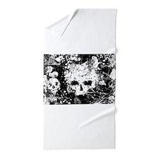 Splatter Skull Beach Towel