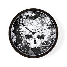 Splatter Skull Wall Clock