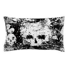 Splatter Skull Pillow Case