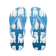 Polar Bears Flip Flops