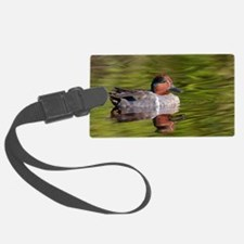 Green Winged Teal Duck Luggage Tag