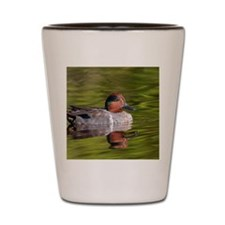 Green Winged Teal Duck Shot Glass