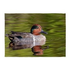 Green Winged Teal Duck 5'x7'Area Rug