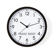 Franz Josef Newsroom Wall Clock