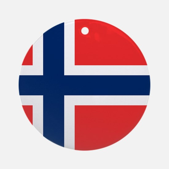 Flag of Norway Ornament (Round)
