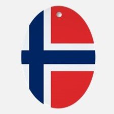 Flag of Norway Ornament (Oval)