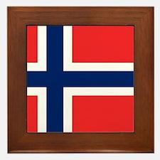 Flag of Norway Framed Tile