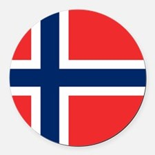 Flag of Norway Round Car Magnet