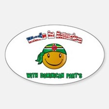 Made in America with Dominica Oval Decal