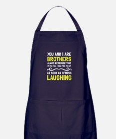 Brothers Laughing Apron (dark)
