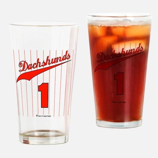 Dachshund Jersey Drinking Glass
