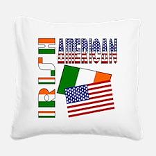 irishamericanflags Square Canvas Pillow
