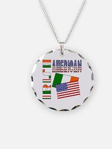 irishamericanflags Necklace Circle Charm