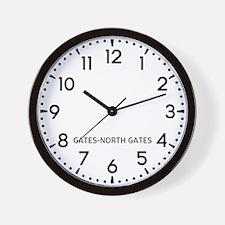Gates-North Gates Newsroom Wall Clock
