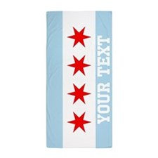 Monogram Chicago Flag Beach Towel