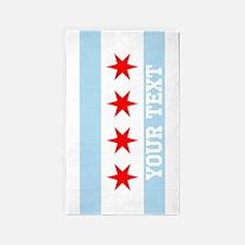 Monogram Chicago Flag 3'x5' Area Rug