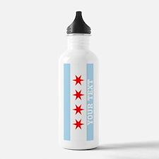 Monogram Chicago Flag Water Bottle