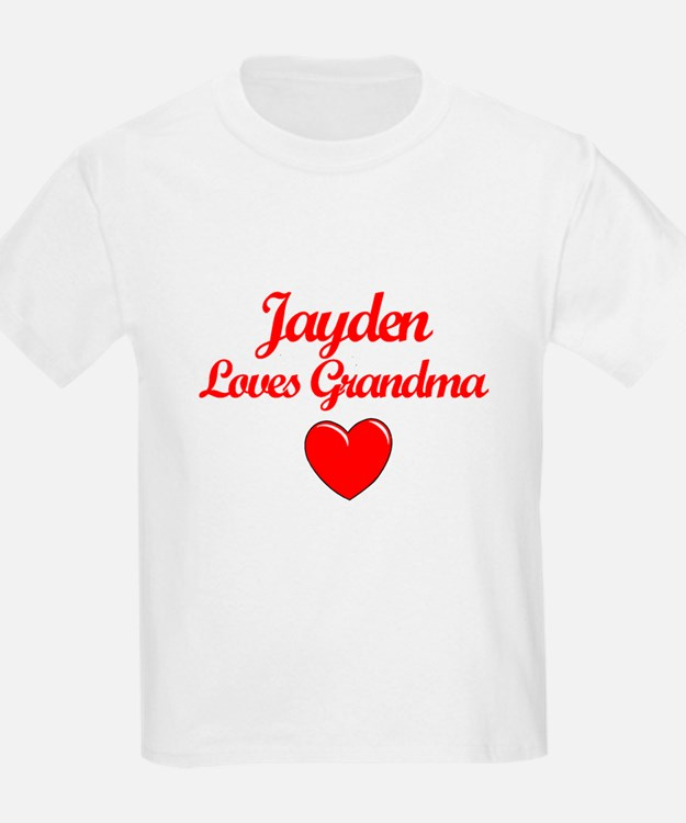 Jayden Loves Grandma T-Shirt