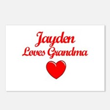 Jayden Loves Grandma Postcards (Package of 8)
