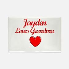 Jayden Loves Grandma Rectangle Magnet