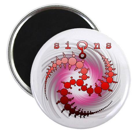 Spiral Wormhole Crop Circle Red Magnet
