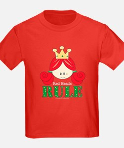 Red Heads Rule Kids Red T-Shirt