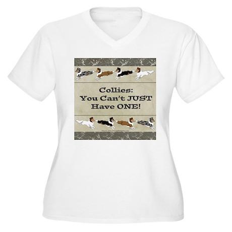 Collie Chips Plus Size T-Shirt