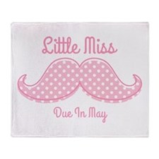 Pink Mustache May Throw Blanket