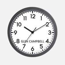 Glen Campbell Newsroom Wall Clock