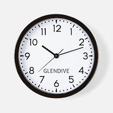 Glendive Newsroom Wall Clock