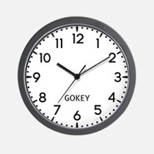 Gokey Newsroom Wall Clock