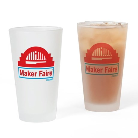 Cincinnati Maker Faire Drinking Glass