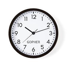 Gopher Newsroom Wall Clock