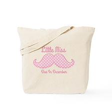 Pink Mustache Dec Tote Bag
