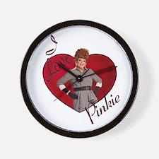I Love Pinkie Wall Clock