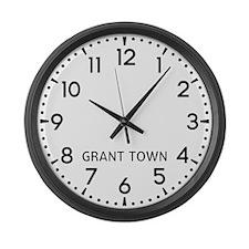 Grant Town Newsroom Large Wall Clock