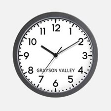 Grayson Valley Newsroom Wall Clock