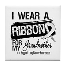 Grandmother Lung Cancer Tile Coaster