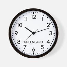 Greenland Newsroom Wall Clock