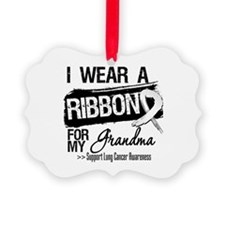 Grandma Lung Cancer Ornament
