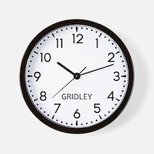 Gridley Newsroom Wall Clock