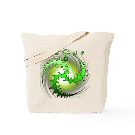 Spiral Wormhole Crop Circle Green Tote Bag