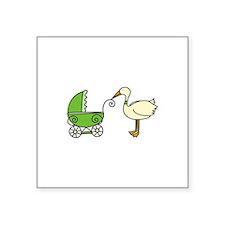 Stork With Stroller Sticker