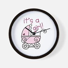 Its A Girl Wall Clock