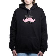 Pink Mustache Little Mis Women's Hooded Sweatshirt